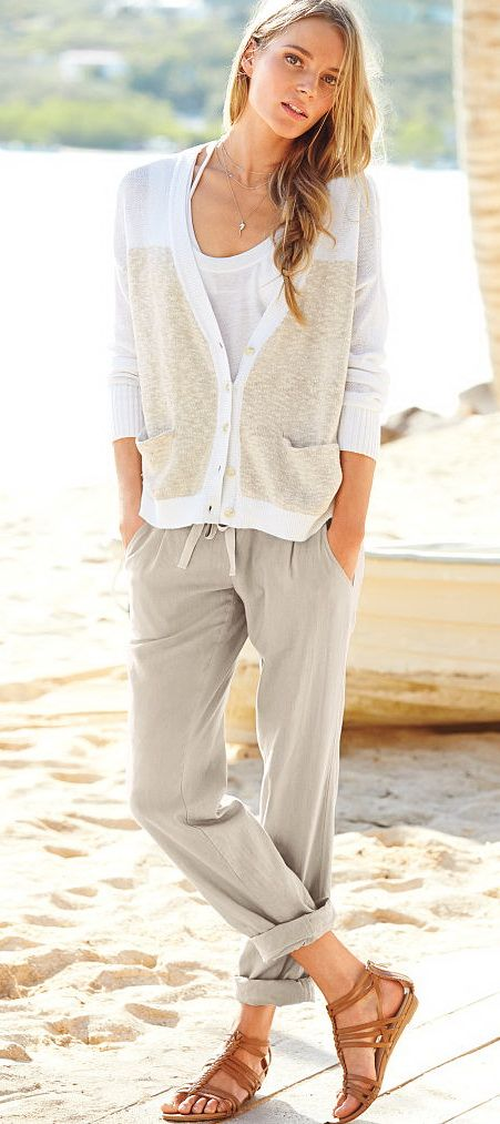 Relaxed Linen Pants 52 Beach Outfits Vs Swim 2015
