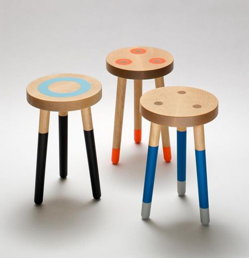sweet milking stools by Um Project