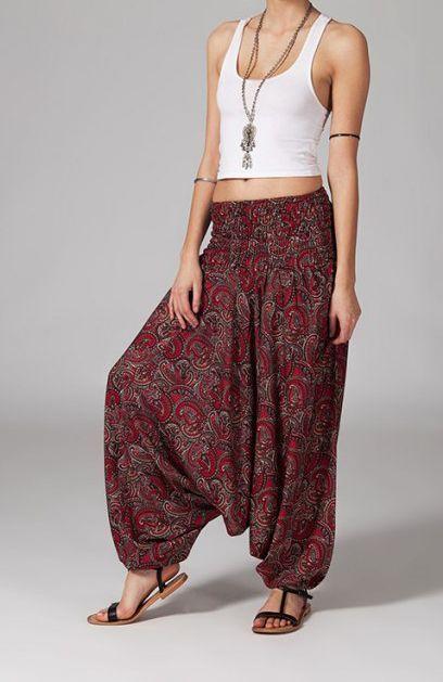 fc13534d182e Sarouel femme ceinture élastique Thalia 268884   Outfits   Pinterest ...