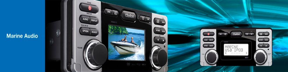 Clarion Marine audio systems  Include marine speakers