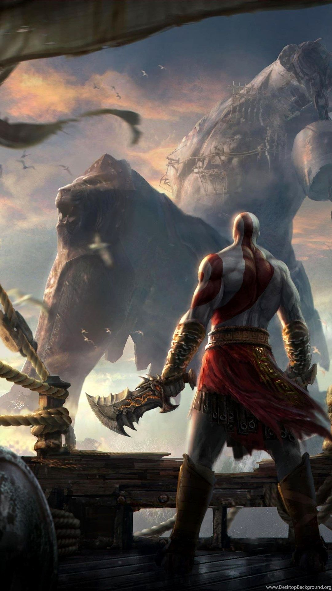 God Of War Wallpaper 4k Mobile Gallery Em 2020 Gods Of War