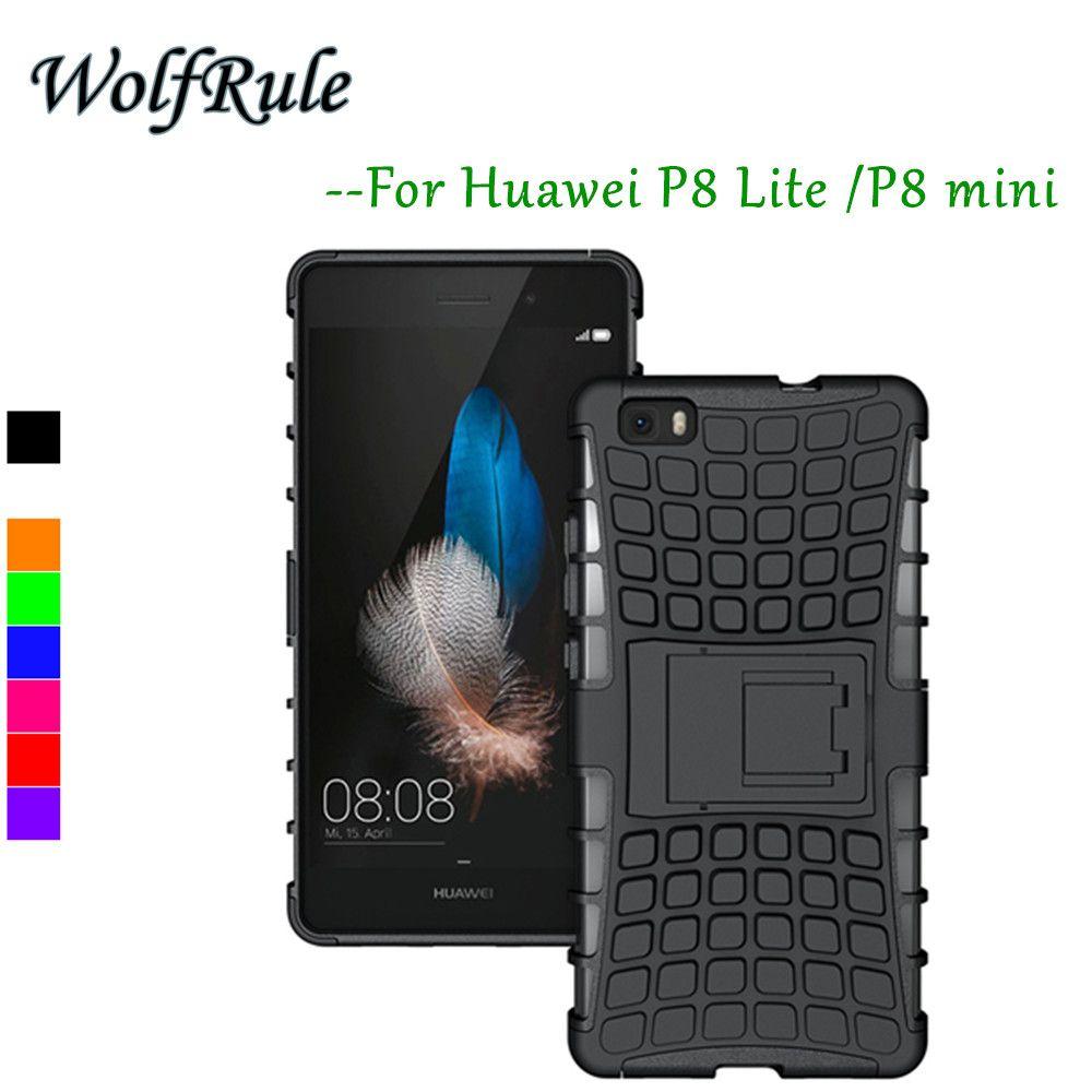 Case huawei p8 lite cubierta antidetonantes case de silicona y plástico duro para huawei p8 lite case huawei p8 mini sostenedor del teléfono funda # <