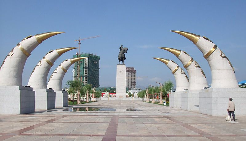 genghis khan monument in hohhot inner wander  genghis khan monument in hohhot inner