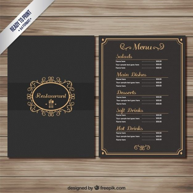 Sample Wine Menu Template Restaurant Menu Design Typography Best