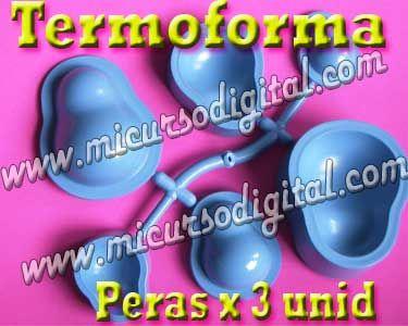 Termoforma frutas peras troquel para goma eva souvenirs molde fomi