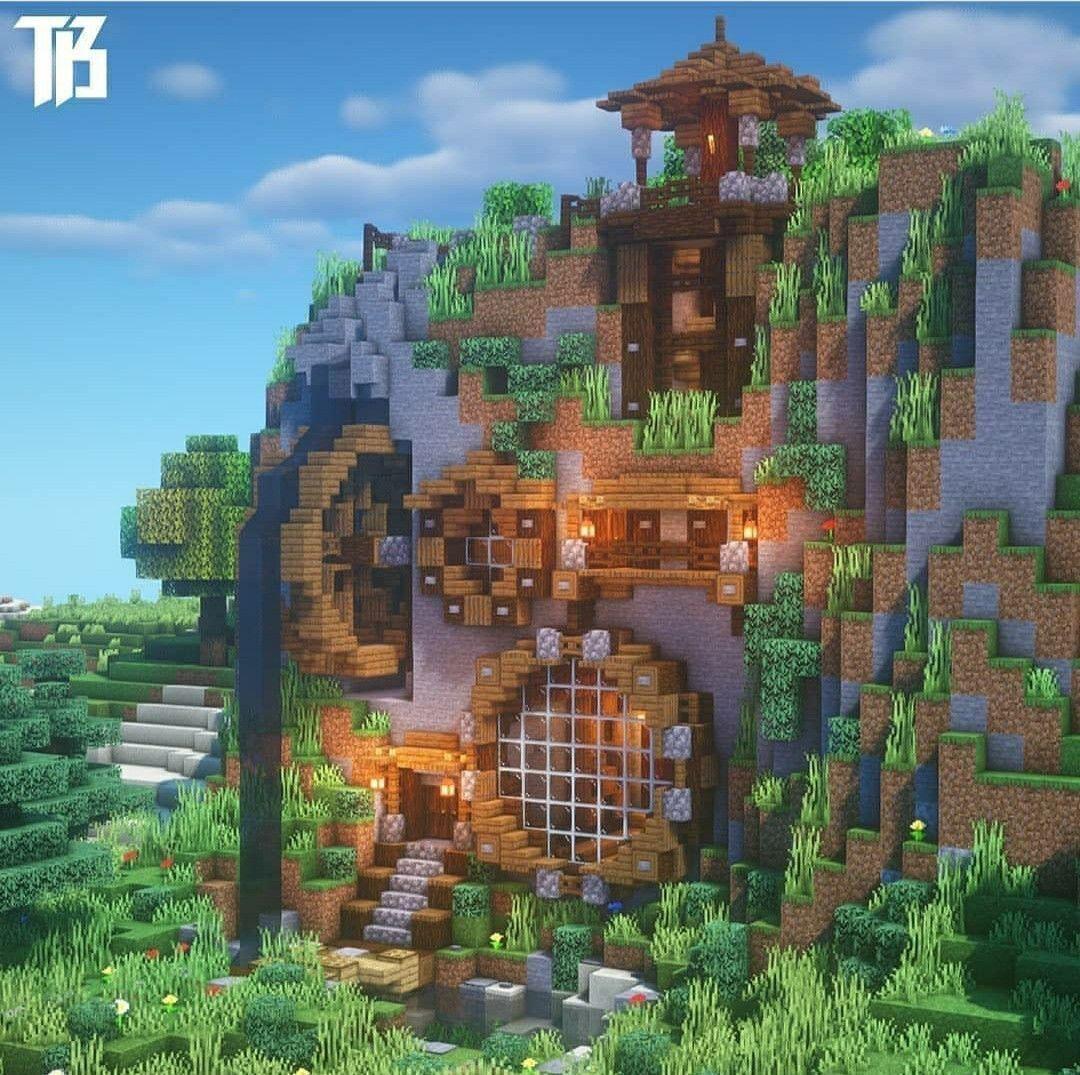 Mountainhouse Minecraft Survival Minecraft Mountainhouse Survival Minecraft Creations Minecraft Houses Minecraft Mansion