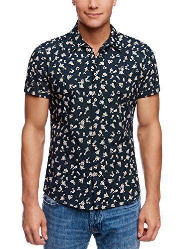 Nuova offerta in #abbigliamento : oodji Ultra Uomo Camicia Stampata con Risvolto sulle Maniche Blu XXL / EU 58 (IT 62-64) a soli 1120 EUR. Affrettati! hai tempo solo fino a 2016-11-05 23:44:00
