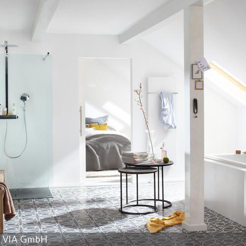 Dachschräge über Badewanne Modern   Moderne Bader Mit Dachschrage