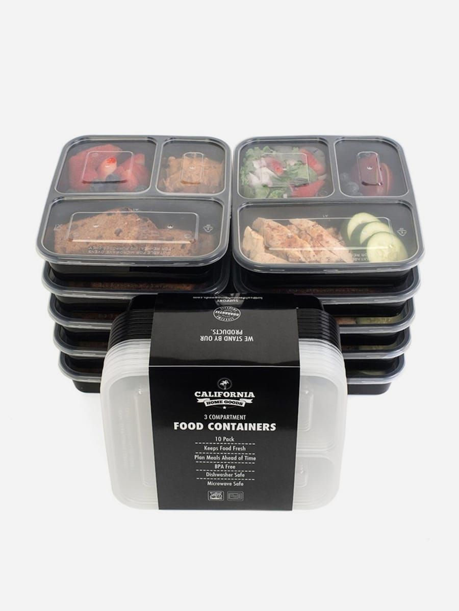 3 Grid Disposable Packing Box 5pcs Shein Meal Prep Containers
