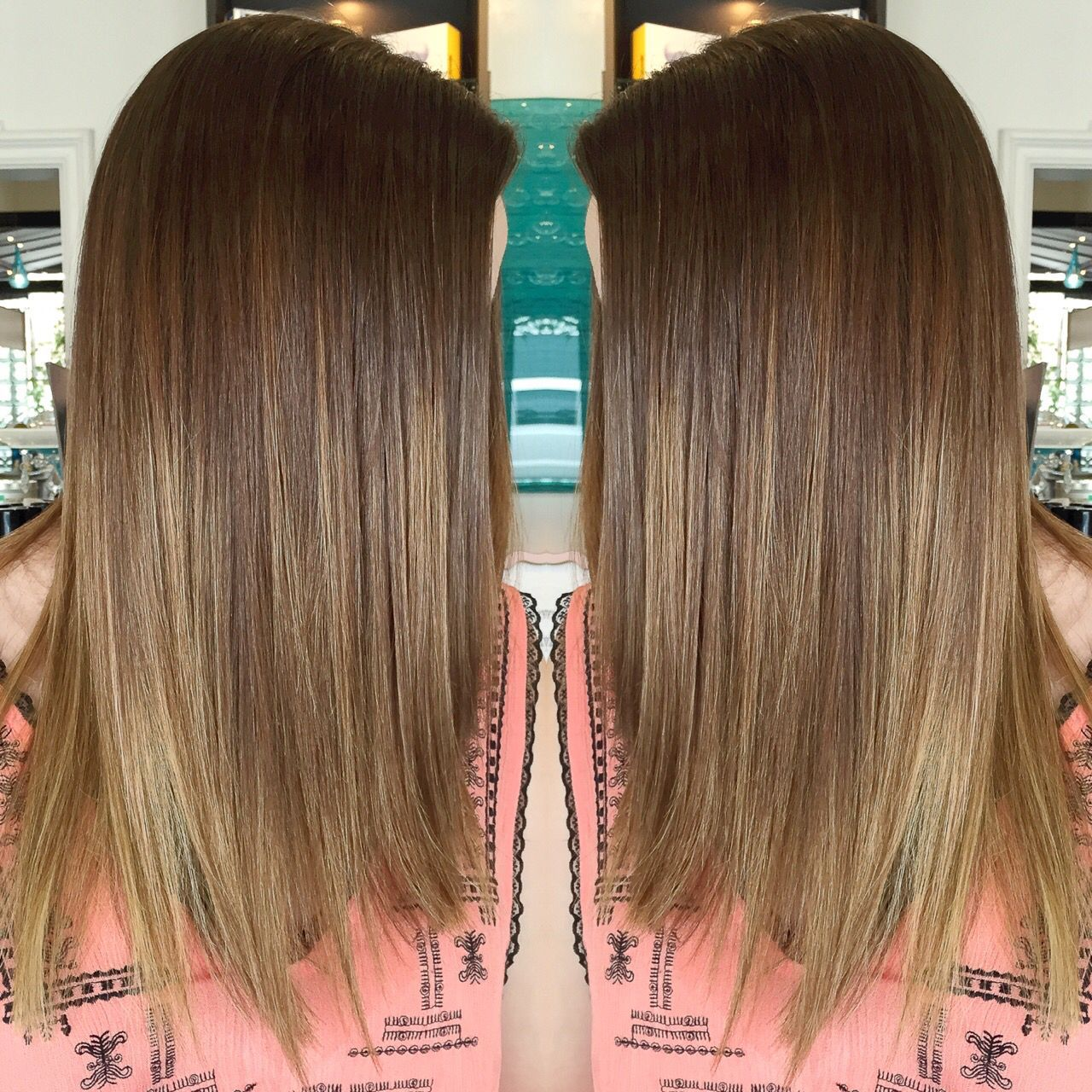 Brazilian straightening and ombre! #brazilianstraightening Brazilian straightening and ombre!
