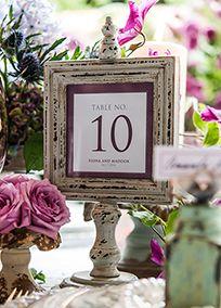Antique Finish Wooden Sign Holder Set of 2, Style 9467 #davidsbridal #weddings #vintage