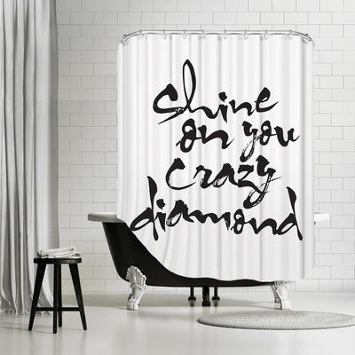 Americanflat Shine On You Crazy Diamond Shower Curtain 11499 By AllModern