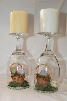 Easter Crafts- Wine glasses