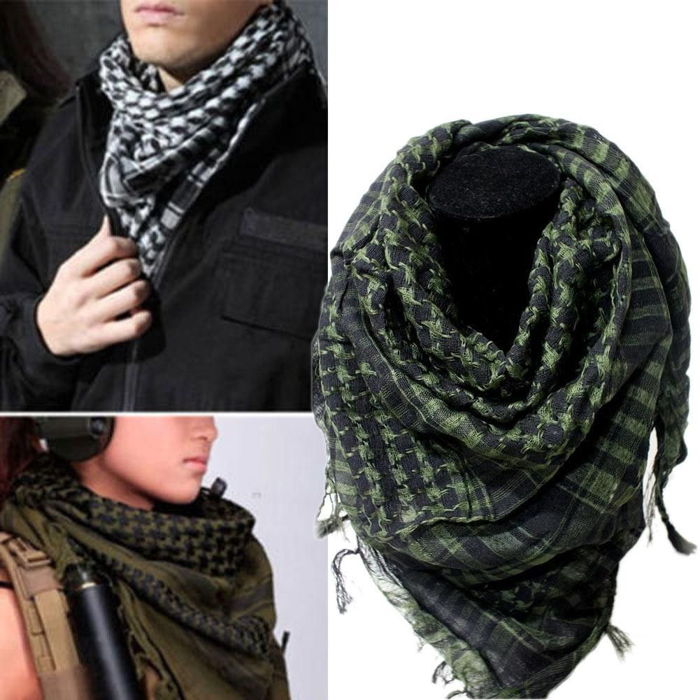 100% Cotton Thick Muslim Hijab Shemagh Tactical Desert Arabic Scarf Arab  Scarves Men Winter Military Windproof Scarf 178dd8690
