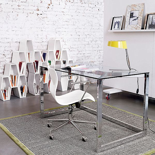 20 stylish home office computer desks - Modern Home Office Glass Desk