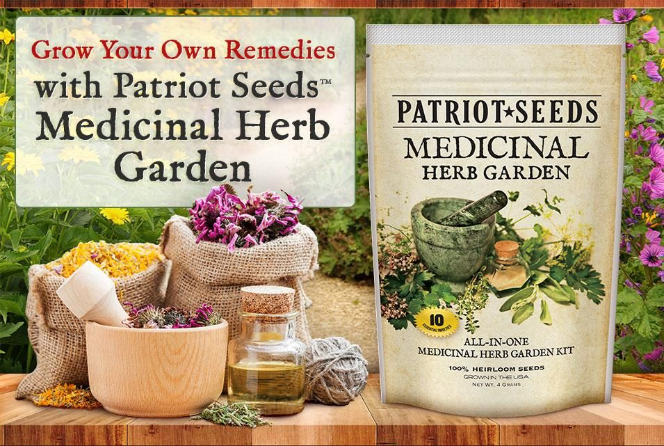 Medicinal Herb Garden Seed Kit (10 packets inside