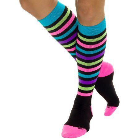 bf29457121e LISH Nurse Compression Socks for Women - Graduated 15-25mmHG - Sports Socks   womenmuscle
