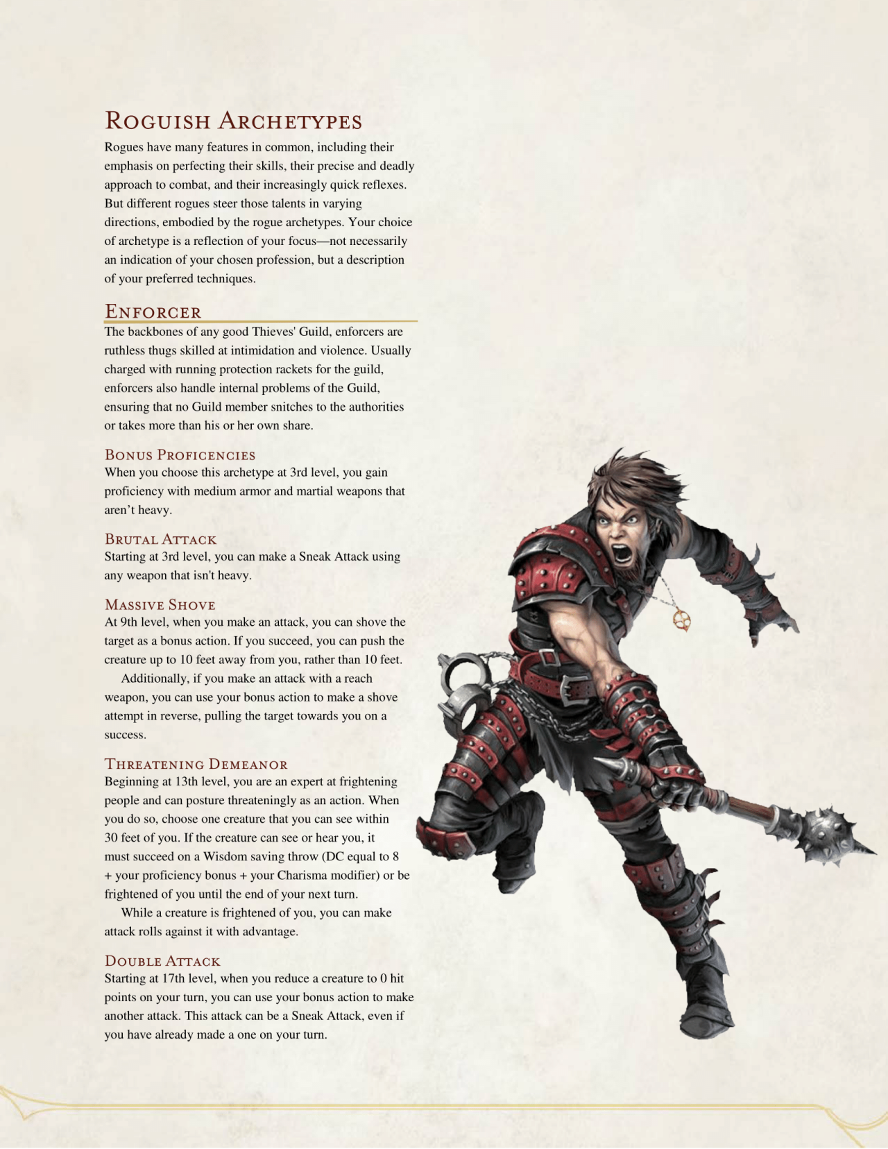Dnd 5e Homebrew Enforcer Rogue By The Middlefinger Of Vecna Dnd 5e Homebrew Rogue Archetypes D D Dungeons And Dragons Certain monsters or characters may have abilities which make them resistant to fire damage or vulnerable to acid damage, for example. dnd 5e homebrew enforcer rogue by the
