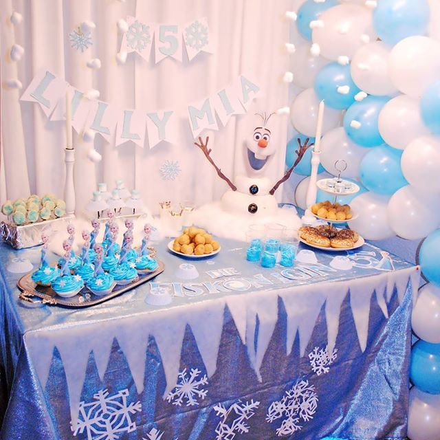 frozen party die eisk nigin olaf schneemann snow. Black Bedroom Furniture Sets. Home Design Ideas