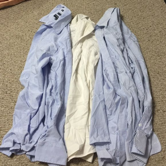 3 Button Down Shirts Men's Great condition. Can be individually sold! Let me know! Saddlebred Tops Button Down Shirts