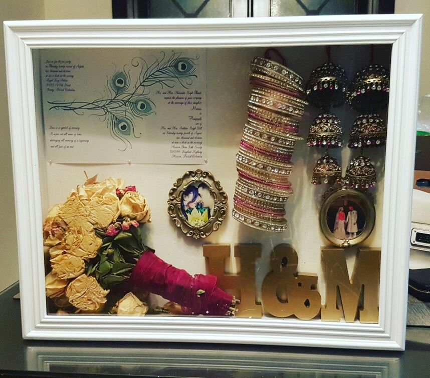 Indian Wedding Shadow Box Wedding Keepsake Boxes Wedding