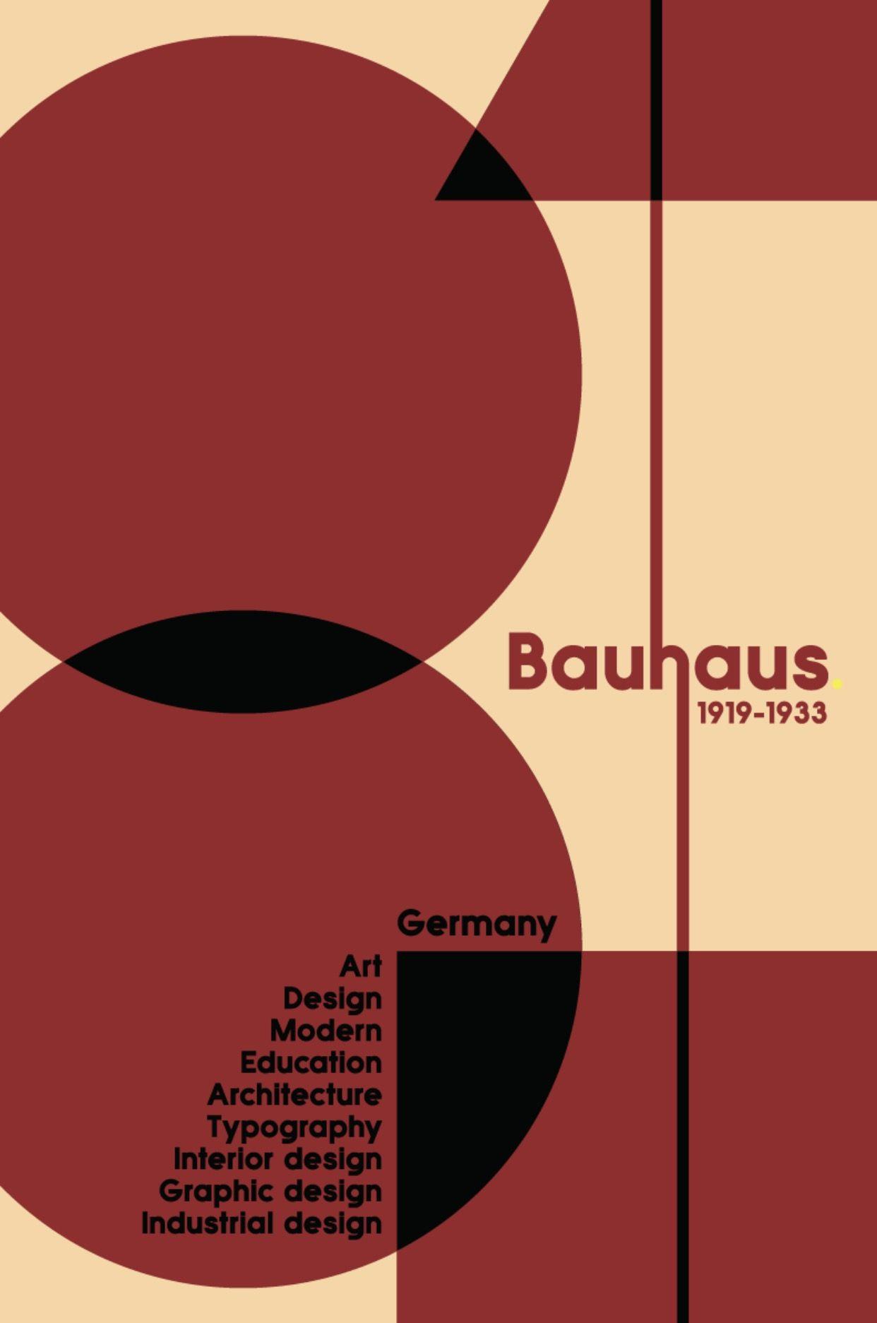 Bauhaus Poster Illustration C Anthony Rivera With Images