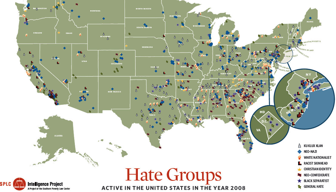 Hate Map Of The US Maps Pinterest Ancestry - Large Image Map Of Us With Labels