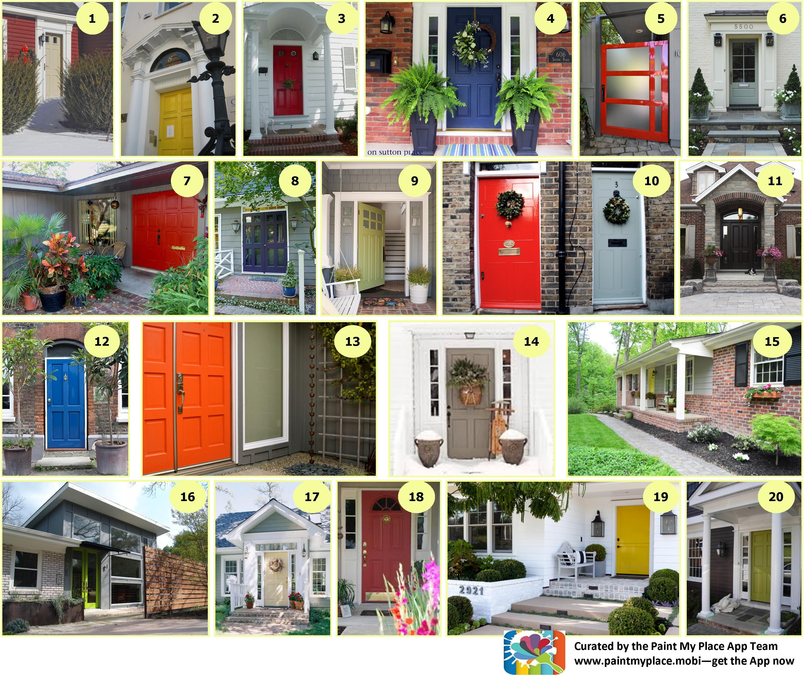 First impressions count be bold and paint your front door use the