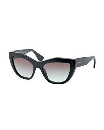 55081391b9182 Miu Miu Angled Cat-Eye Sunglasses
