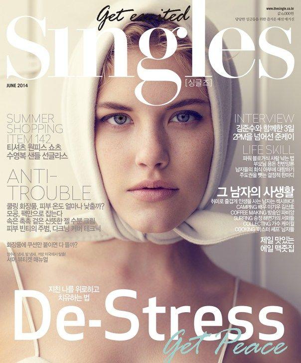 Ashley Smith by Hong Jang Hyun for Singles Korea June 2014