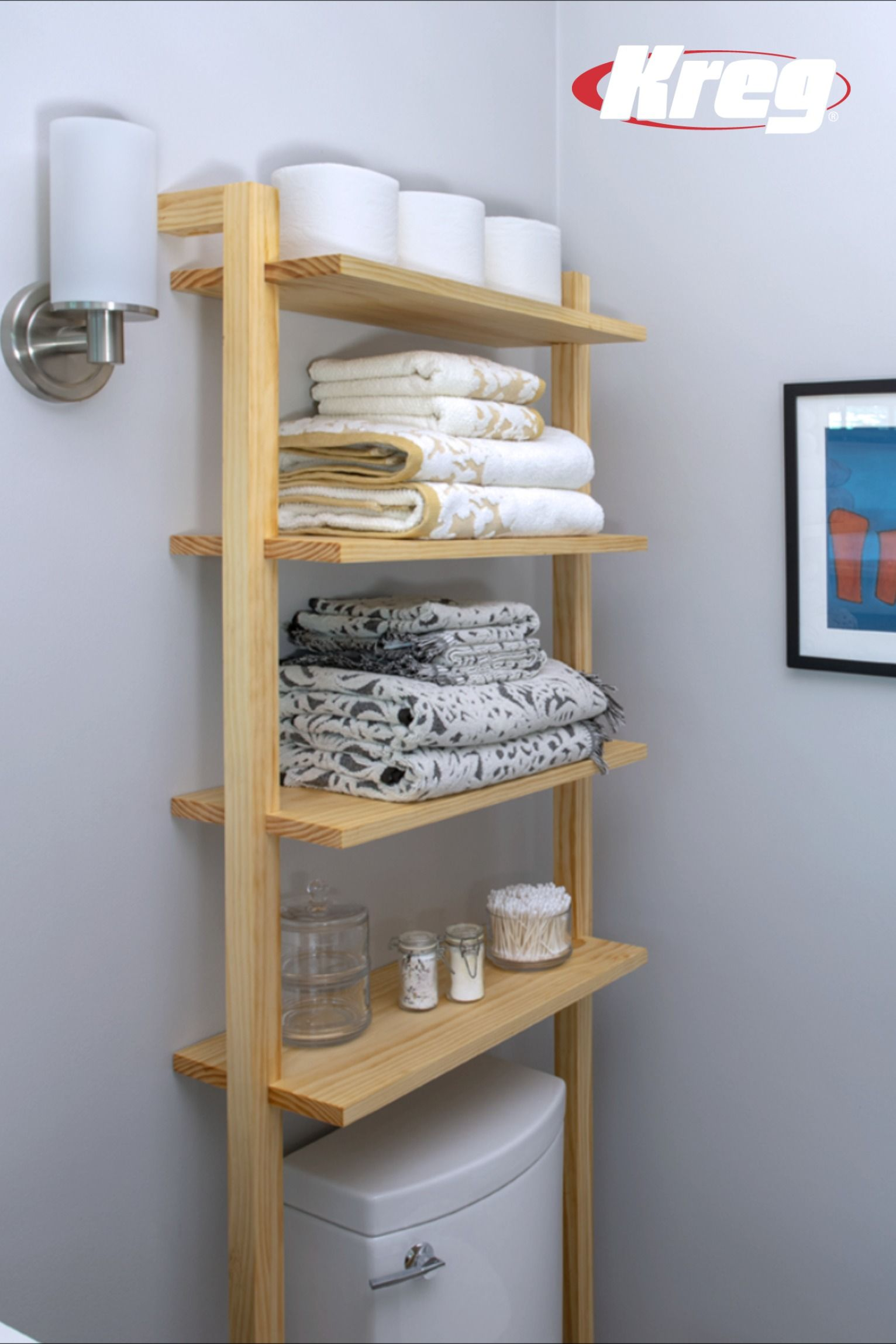 Free Project Plan How To Build Diy Bathroom Storage Shelves Bathroom Shelves For Towels Diy Bathroom Storage Bathroom Storage Shelves