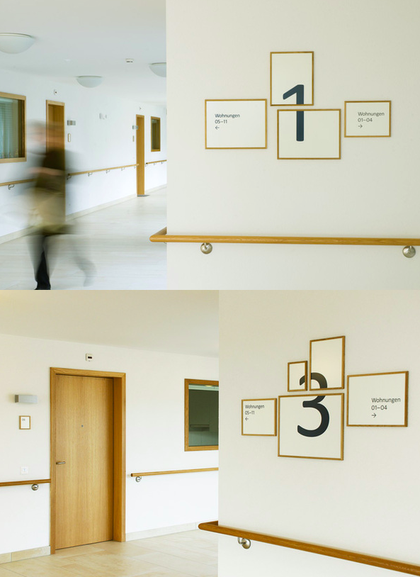 Signage For The Home For The Elderly In Hottingen, Zurich