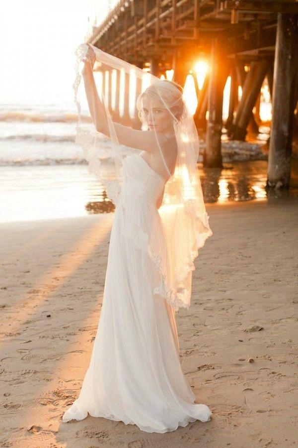 Beach Wedding Veils Style Inspiration Modern Weddings Hawaii Bridal Inspiration
