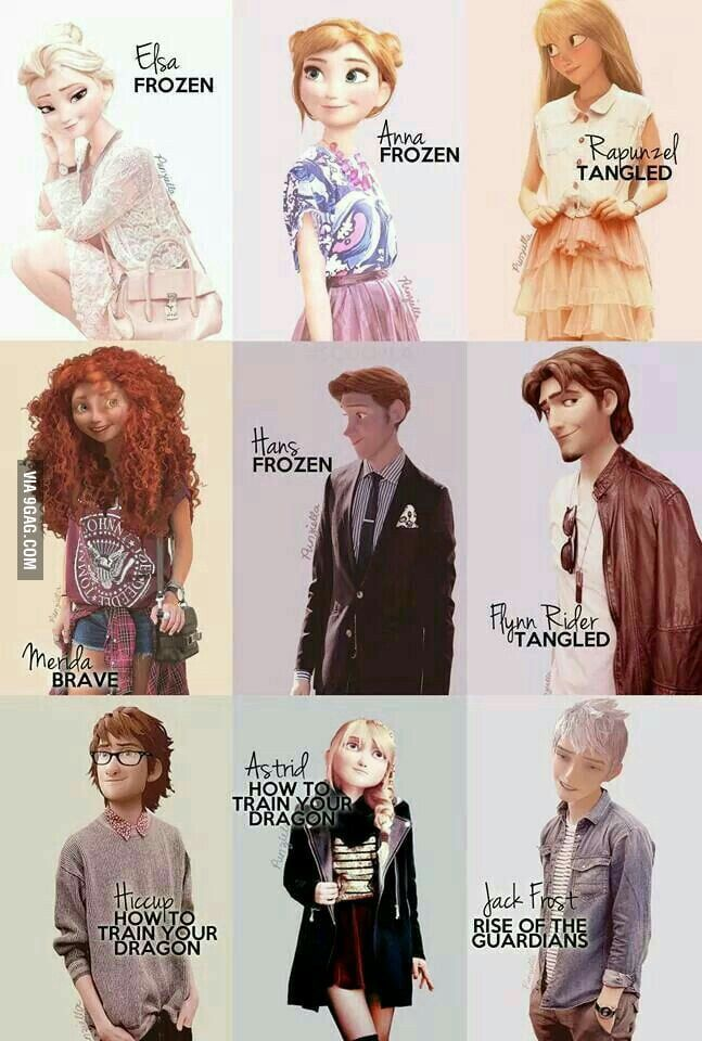 Modern Disney Characters!