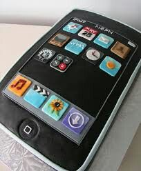 Iphone Cake design Pinterest Cake designs and Cake