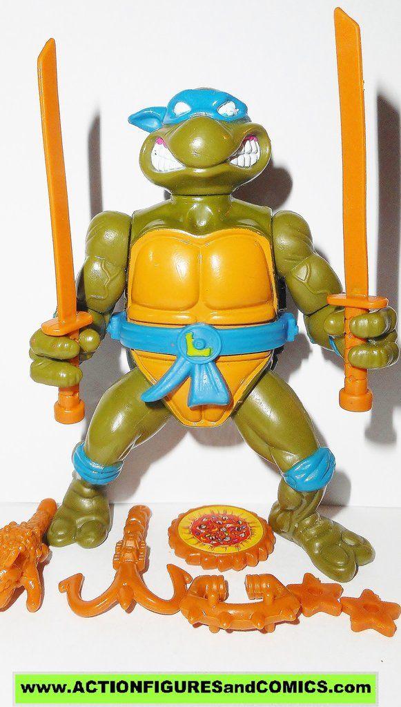 Vintage 1988 TMNT Teenage Mutant Ninja Turtle Leonardo Leo 100/% Complete Figure