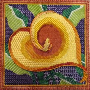 cala lily needlepoint from juliemar using kreink hotwire