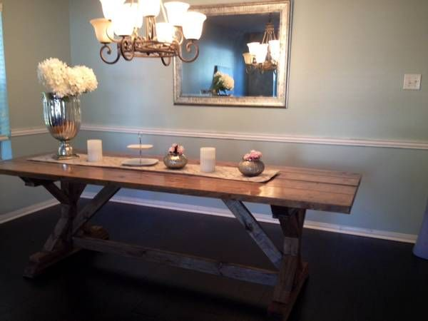 Farmhouse Rustic Table Craigslist 375 Dining Room
