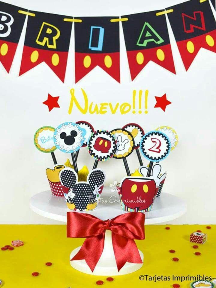 Decoraciones de fiesta para imprimir Mickey Mouse #Mickey #minibar ...