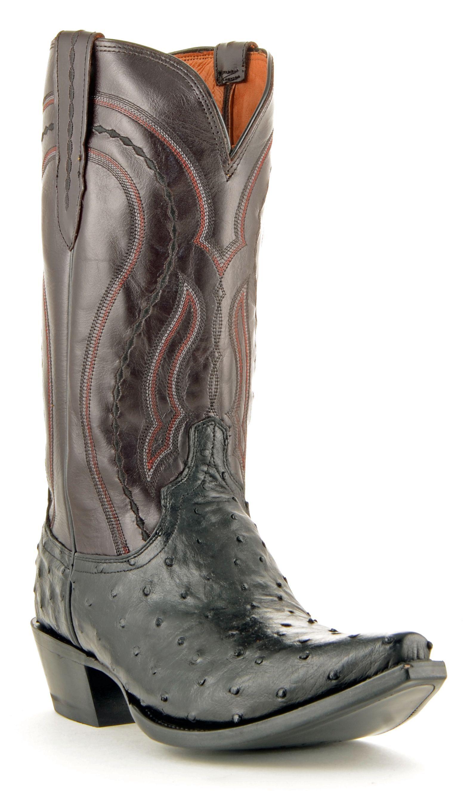 Cowboy Exotic Uomo stivali Caiman nero Colore Belly Leather