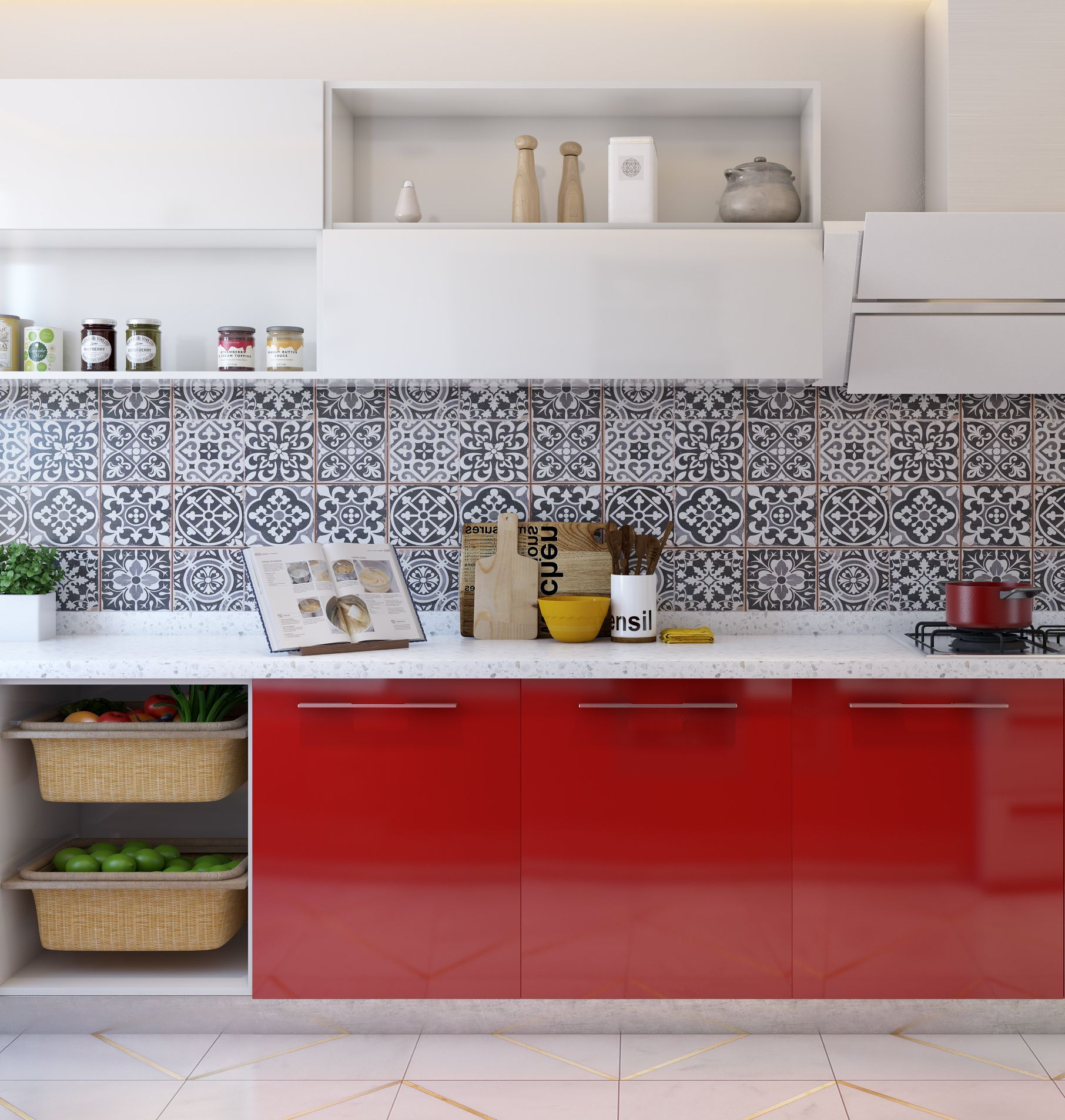 We just can't get enough of patterned tiles as backsplashes Isn't ...