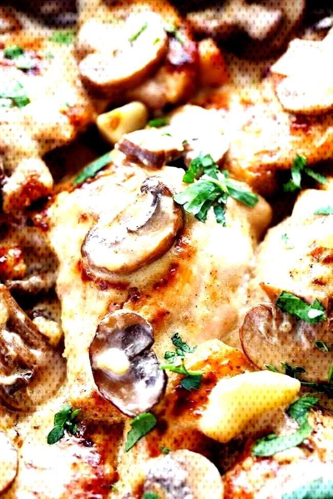 Creamy Garlic Mushroom Chicken - Recipes de - Essen -