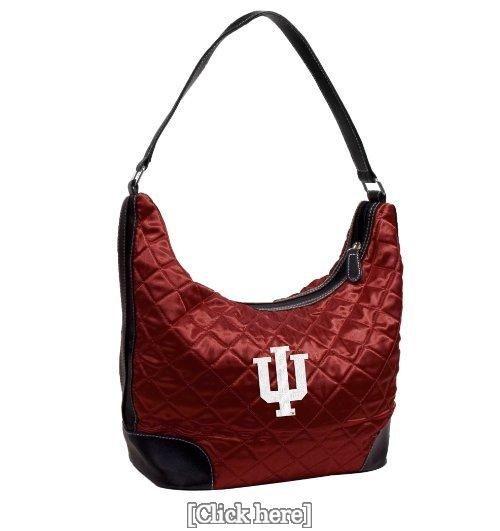 NBA Indiana University Dark Red Quilted Hobo Handbag
