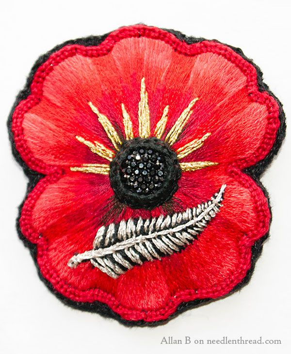 Readers work hand embroidered poppy anzac poppy satin stitch readers work hand embroidered poppy anzac poppy satin stitch and embroidery mightylinksfo