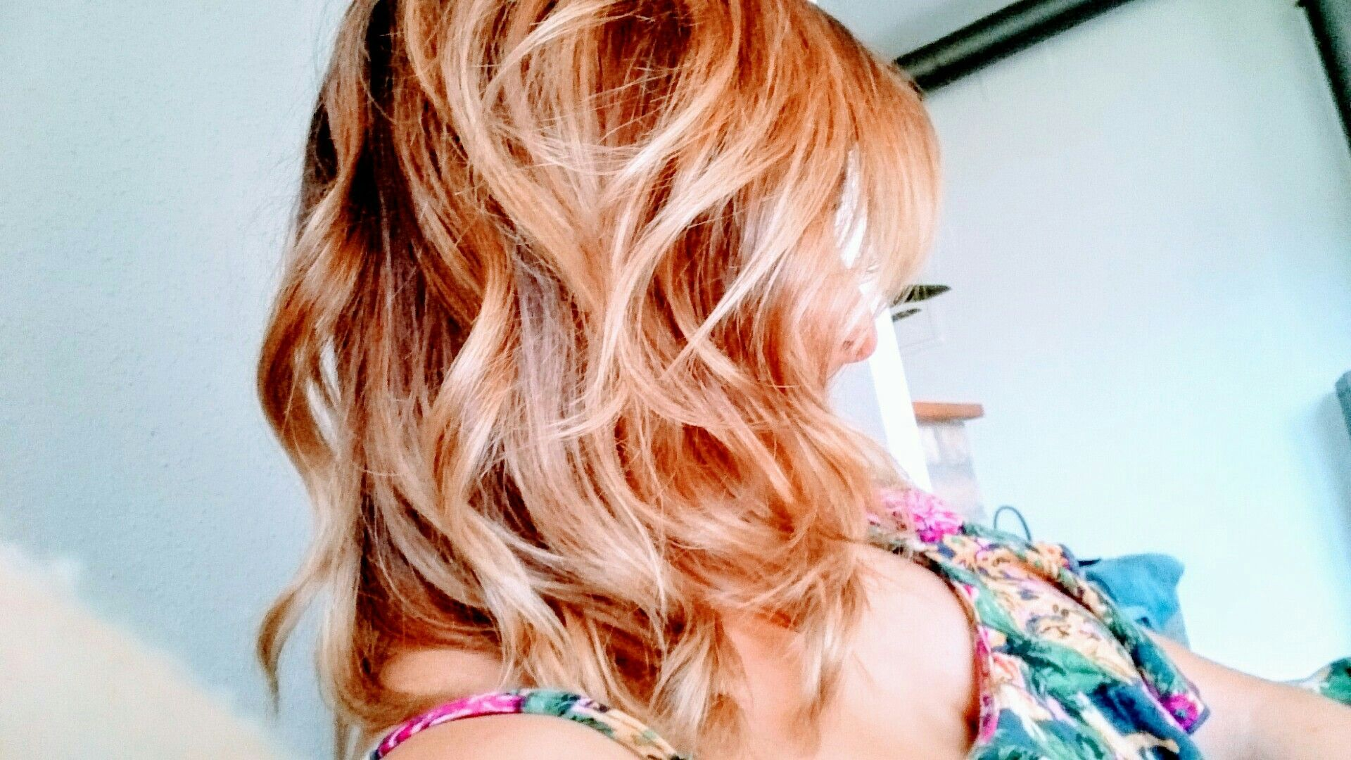 #Curly hairs #Rosegoldhairs #balayage #ombre