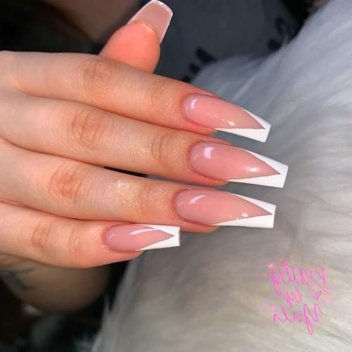 Gel Nails In 2020 French Tip Acrylic Nails White Tip Acrylic Nails French Acrylic Nails