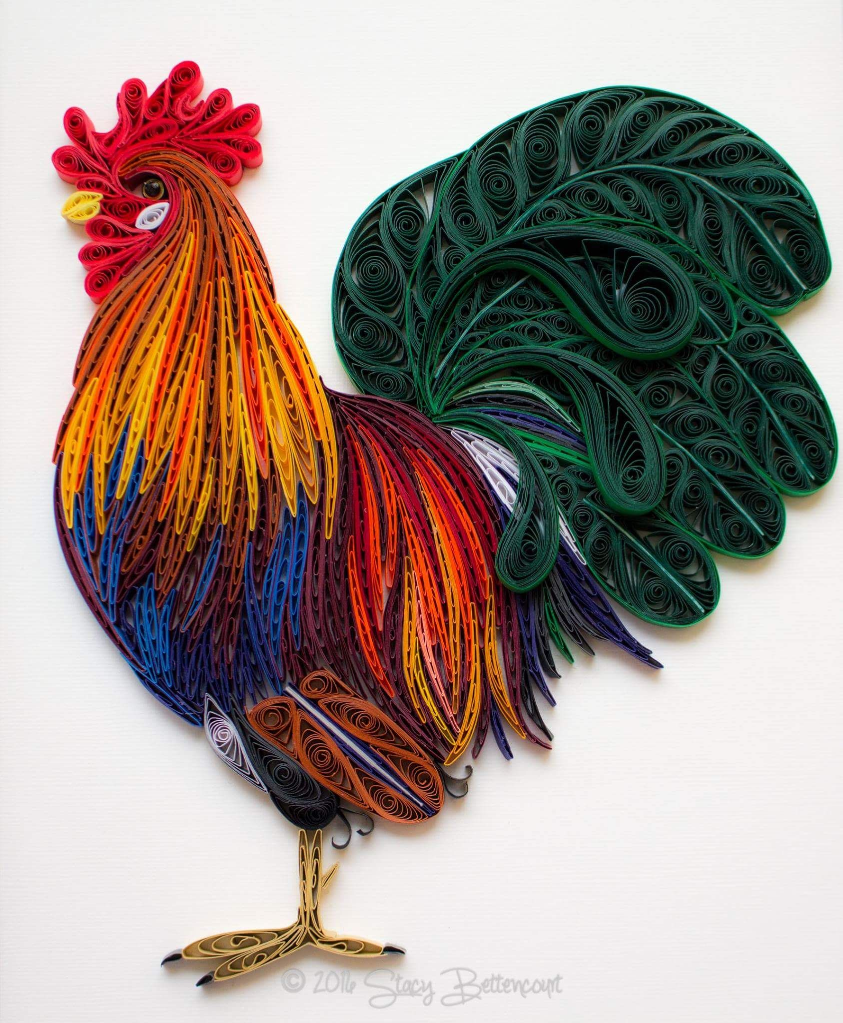 Quilling cock with your own hands