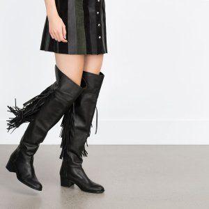 Kolekcja Jesieăa 2015 Moda Leather Fringe Boots Fringe Boots Boots