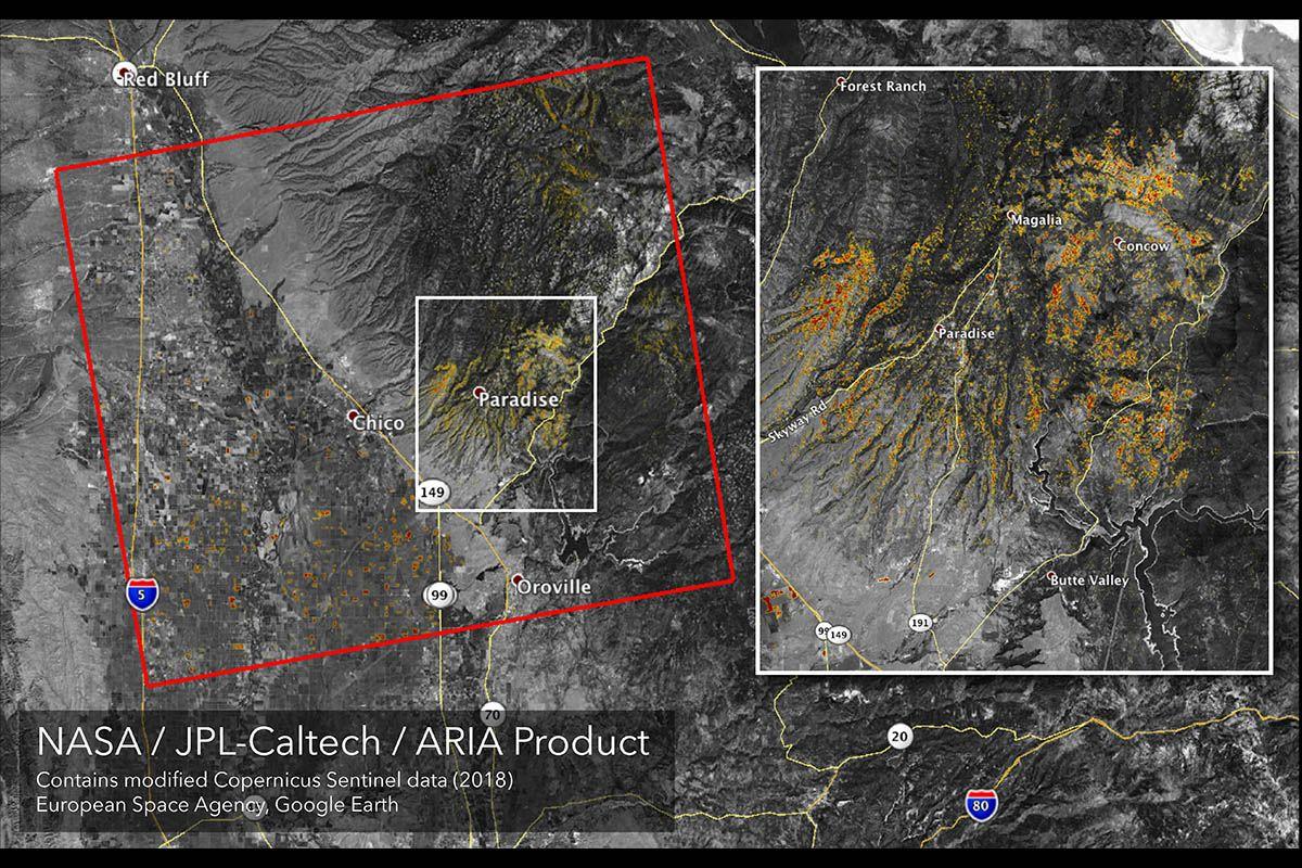 Nasa Satellites Observe Wildfires In California Clarksville Tn Online California Map California Wildfires Nasa