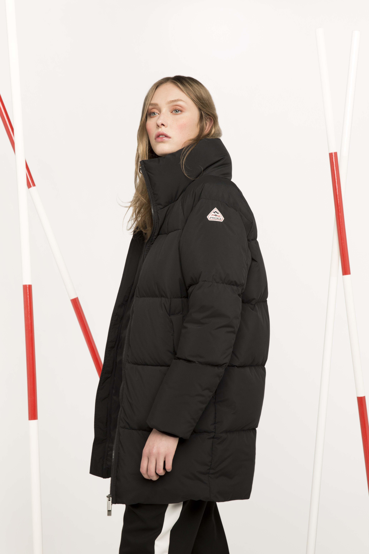 Pyrenex Barrow long oversized down jacket. The oversize